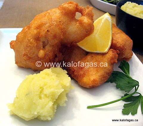 Bakaliaros Skordalia (Breaded Cod With Potato Garlic Aioli)