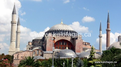 Aghia Sophia, Istanbul (Constantinople) - the spiritual center of Greek-Orthodoxy