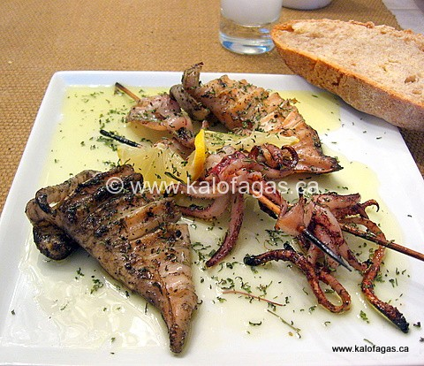 Grilled Calamari - KALOFAGAS | GREEK FOOD & BEYOND