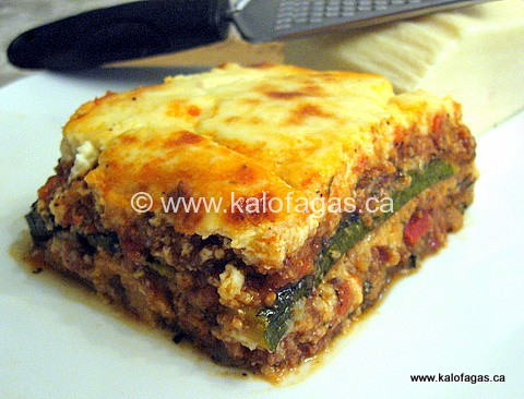Moussaka usually is made with slices of fried eggplant layered between ...