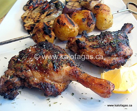 Char-grilled Chicken With Potatoes and Vegetables - KALOFAGAS   GREEK ...