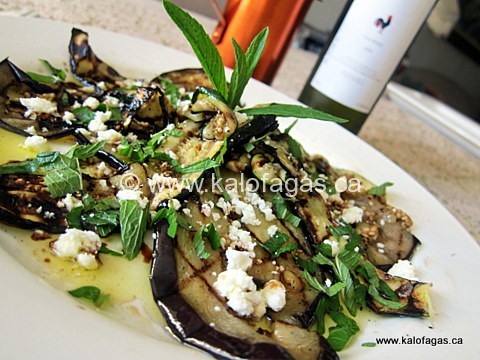 Grilled Eggplant and Zucchini Salad With Feta & Mint - KALOFAGAS ...