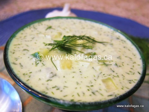Tarator Cold Cucumber Soup (Σούπα ταρατόρ)